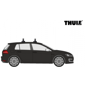 Huur dakdragers personenauto - Thule Rapid System