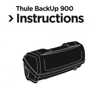 Montage-instructies Thule trekhaakkoffer Backup